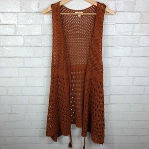 Umgee Open Knit Vest